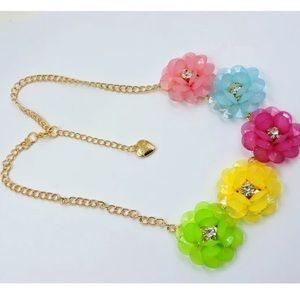 Betsey Johnson colorful flower necklace